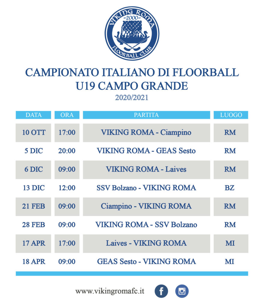 calendario floorball juniores