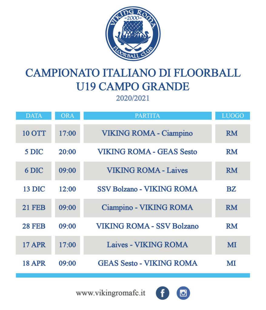 calendario floorball juniores