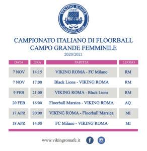 Calendario floorball femminile